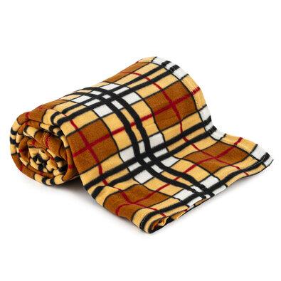 Pătură fleece Brown Cube, 150 x 200 cm
