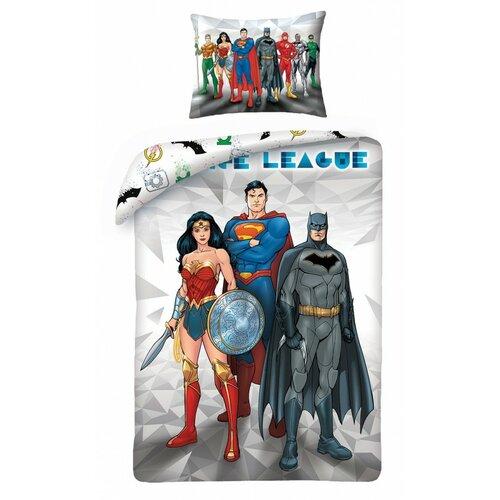 Justice League 8101 pamut ágynemű, 140 x 200 cm, 70 x 90 cm