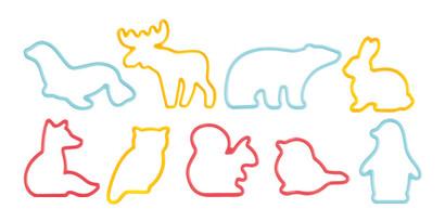Tescoma Vykrajovadlá DELÍCIA KIDS, zvieratká, 9 ks