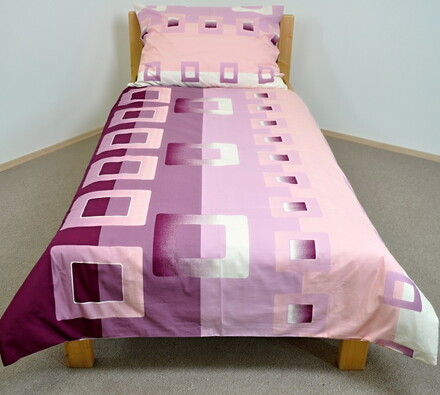 Bavlněné povlečení Celeste, 140 x 200 cm, 70 x 90 , růžová, 140 x 200 cm, 70 x 90 cm