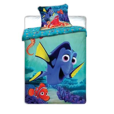 Dětské bavlněné povlečení Dory a Nemo, 140 x 200 cm, 70 x 90 cm