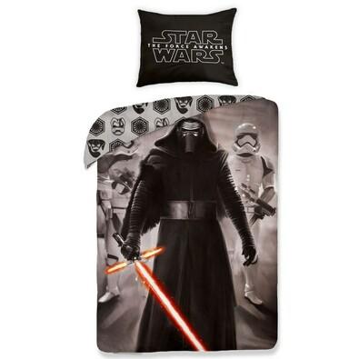 Dětské bavlněné povlečení Star Wars The Force Awakens black, 140 x 200 cm, 70 x 90 cm