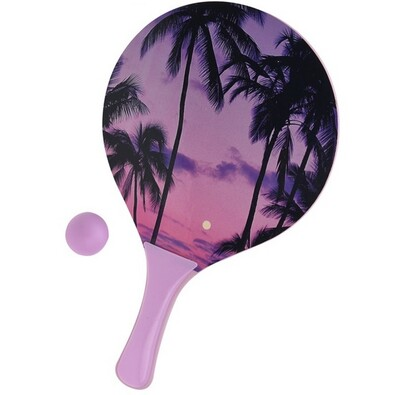 Zestaw tenis plażowy Summer, fioletowy