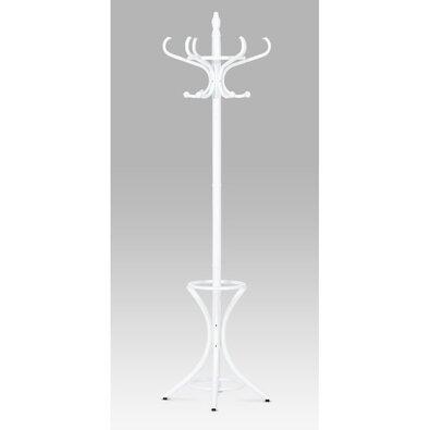 Wieszak metalowy biały mat, 185 cm