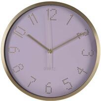 Nástenné hodiny Puntos ružová, pr. 30 cm