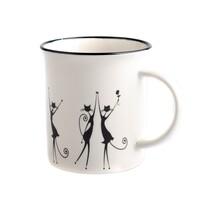 Porcelánový hrnček Tancujúce mačky 310 ml