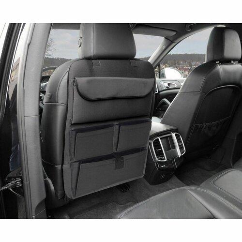 Compass Organizer na przedni fotel samochodowy Premium, czarny