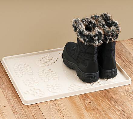 Odkapávač  na  boty, béžová, 49 x 35 cm