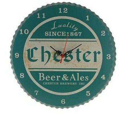 Kovové hodiny Chester, zelené