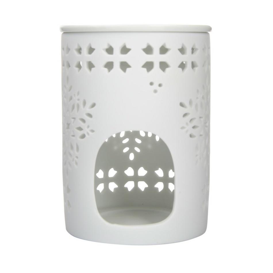 Altom Porcelánová aromalampa Ellie 8,5 x 11,5 cm, bílá