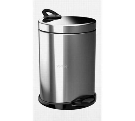 Odpadkový koš Meliconi Opera De-Luxe BS 14 l, stříbrná