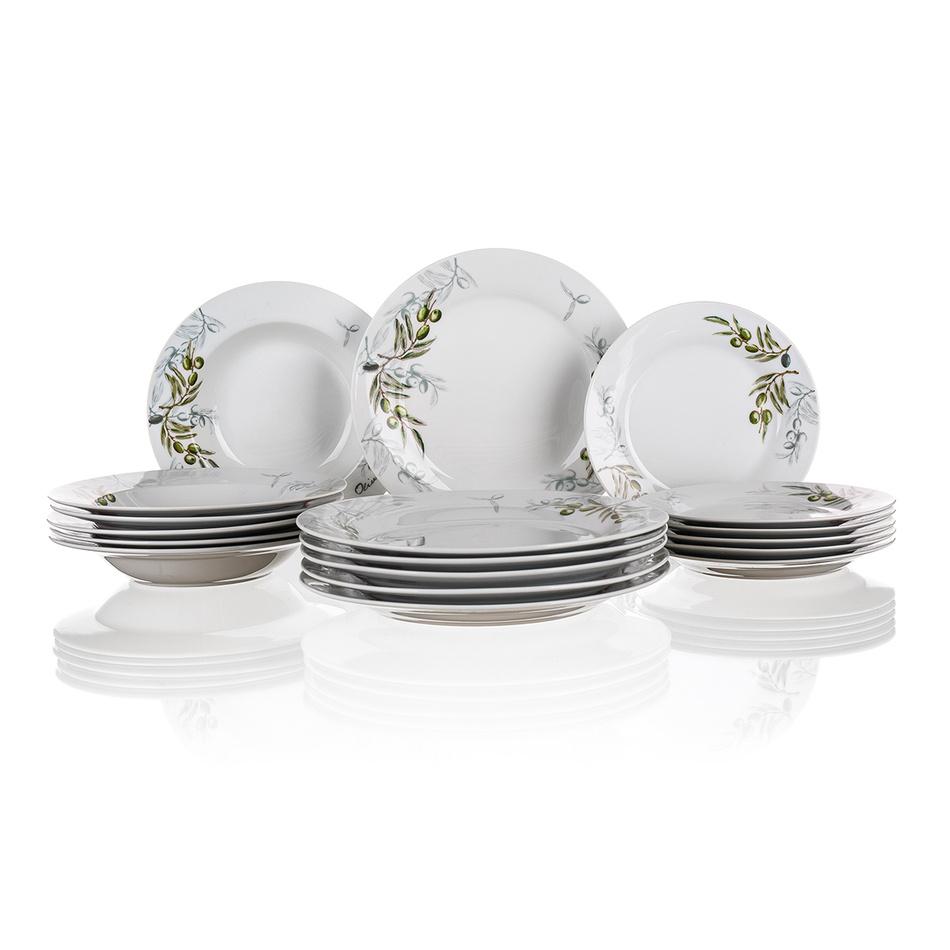 Set de farfurii Banquet Olives 18 piese