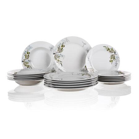 Banquet Sada talířů OLIVES, 18 ks