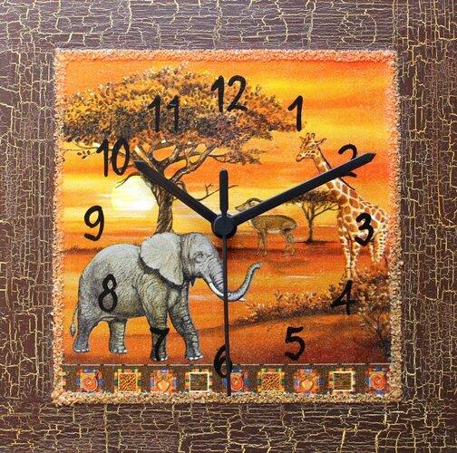 Dekoratívne nástenné hodiny Safari