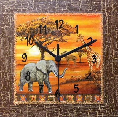 Nástěnné hodiny Safari