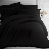 Kvalitex Pościel bawełniana czarna, 140 x 200 cm, 70 x 90 cm