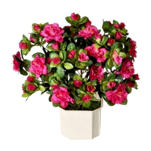 Umělá květina Azalka růžová, 35 cm