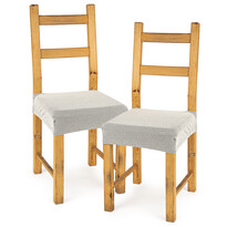 4home Multielastický poťah na sedák na stoličku Comfort smotanová, 40 - 50 cm, sada 2 ks