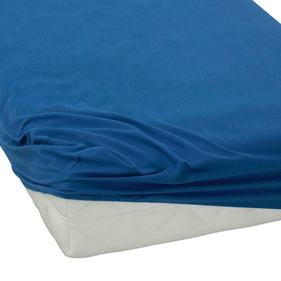 BedTex jersey prostěradlo tmavě modrá, 180 x 200 cm