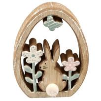 Veľkonočná drevená dekorácia Vajíčko, 9,5 x 13 x 2 cm