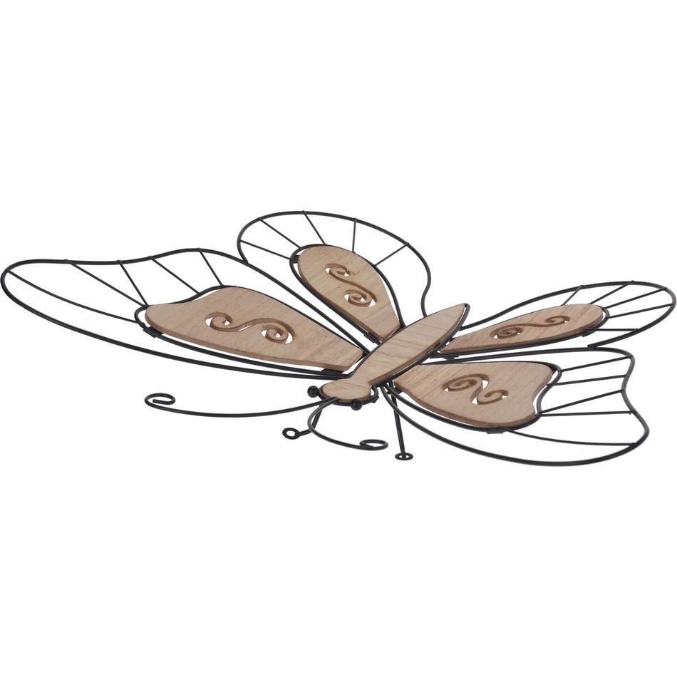 Koopman Drátěná dekorace Sedící motýlek, 44 cm