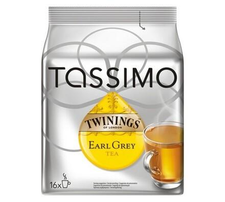 Kapsle Tassimo, Earl Grey tea, 16ks, Twinings