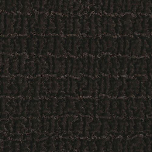 Multielastický poťah na taburetku Cagliari hnedá, 40 - 60 cm