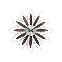 Zegar ścienny Lavvu Crystal Flower LCT1110 brązowy, 49 cm