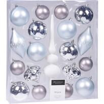 Set decorațiuni Crăciun Clotte, albastru, 19 buc.