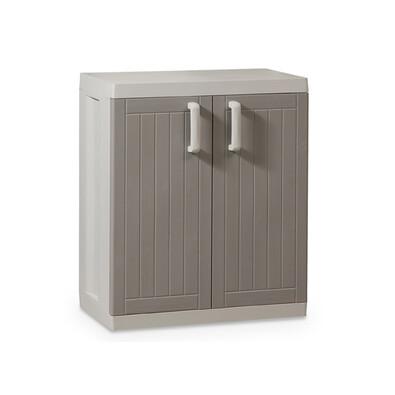 Plastová skříňka bílá / tmavě šedá
