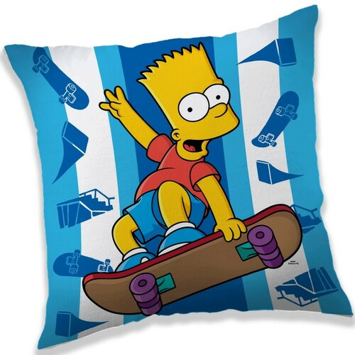 Jerry Fabrics Polštářek The Simpsons Bart skater, 40 x 40 cm