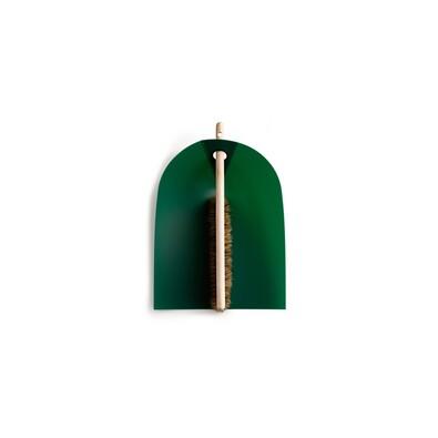 Lopatka a smetáček Dustpan & Broom, tmavě zelená