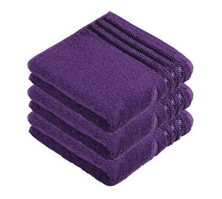 Vossen ručník Cult De Luxe  tmavě fialová, 50 x 100 cm sada 3 ks
