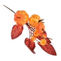 Podzimní dekorační větvička s dýněmi, 22 cm