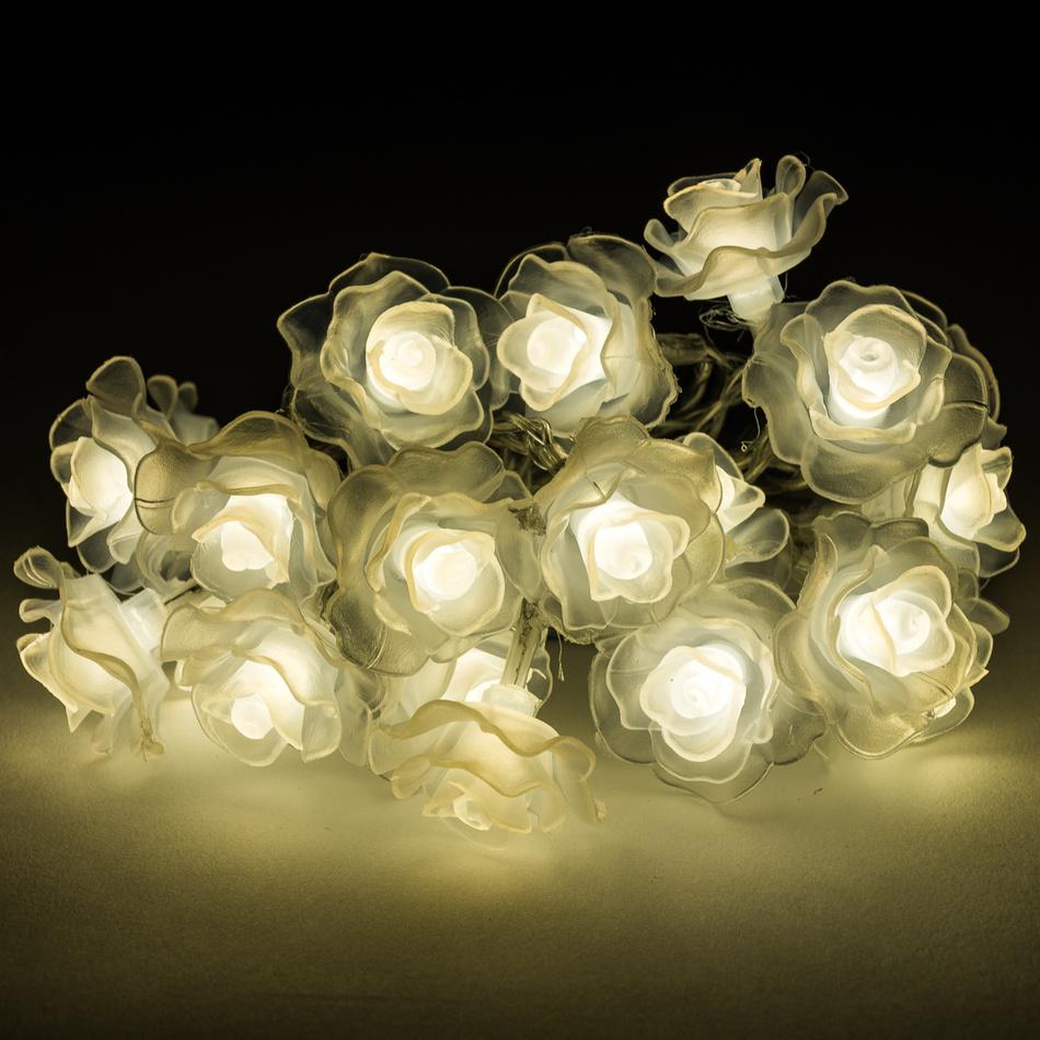 Dekorační světelný řetěz Květina, 20 LED
