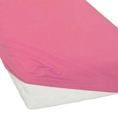 BedTex jersey prostěradlo růžová, 180 x 200 cm