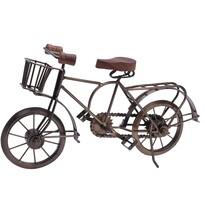Recipient metalic de ghiveci Bicyclette, maro, 36 x 11 x 20 cm