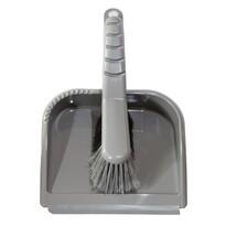 Metlička a lopatka s gumovou lištou TRENDY, sivá