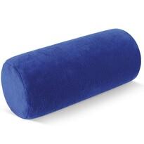 Vankúš pod krk Valec mikro modrá, 15 x 35 cm