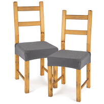4Home Husă elastică scaun Comfort grey, 40 - 50 cm, set 2 buc