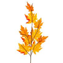 Jesenná vetvička s oranžovými listami javora, 70 cm