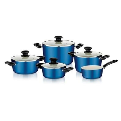 Tescoma ecoPRESTO 9dílná sada nádobí modrá