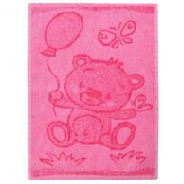 Ręcznik dziecięcy Bear pink, 30 x 50 cm