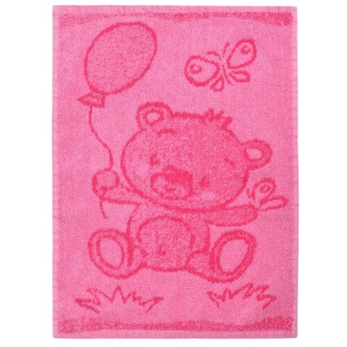 Detský uterák Bear pink, 30 x 50 cm