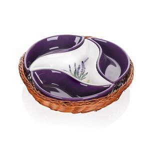 Banquet Lavender 4dílná servírovací mísa v košíku