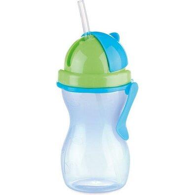Tescoma Dětská láhev s brčkem BAMBINI modrá, 300 ml