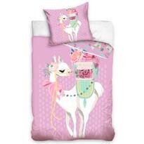 Bavlnené obliečky Lama Pink, 140 x 200 cm, 70 x 90 cm