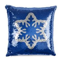 Domarex Vankúšik s flitrami Snehová vločka, 40 x 40 cm