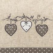 Faţă de masă de Crăciun Inimă bulină, gri, 85 x 85 cm