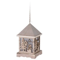 Drevený LED lampáš Trevi, 9,5 x 16,5 cm